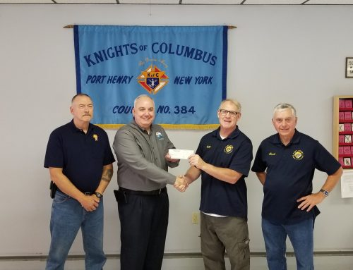 Knights of Columbus Council #384 donates $1,000 to High Peaks Hospice