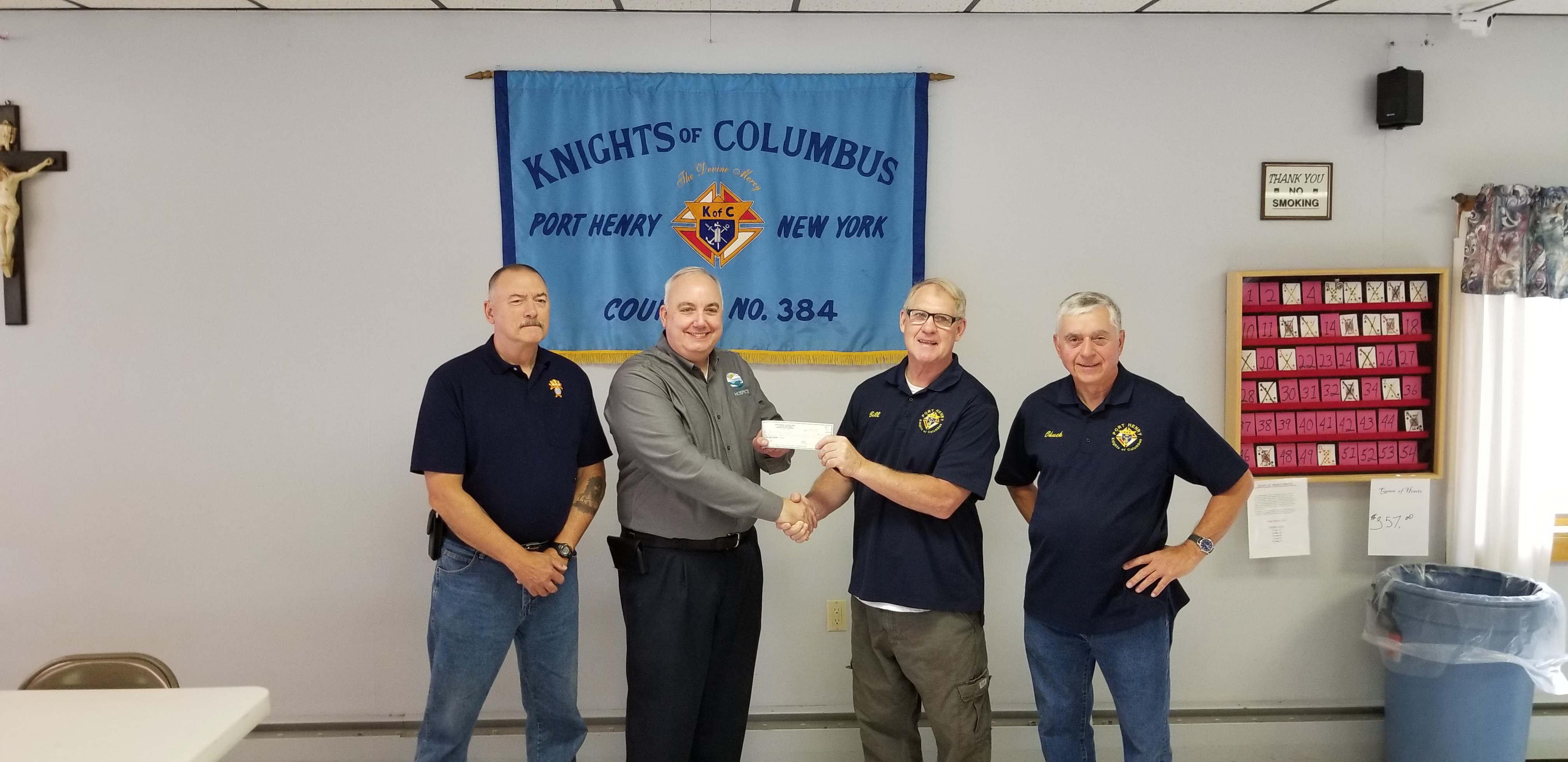 K of C check presentation