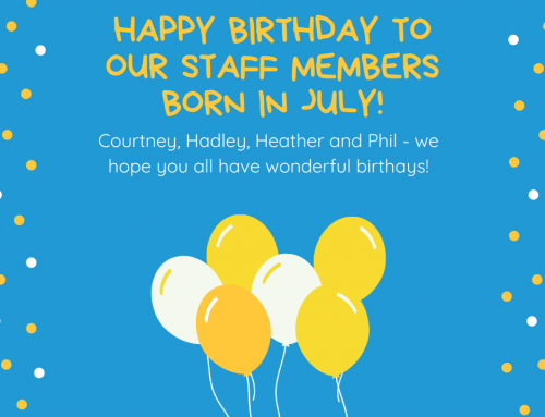Happy birthday to our staff members born this month!