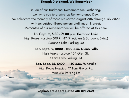 2020 Drive-up Remembrance Gatherings