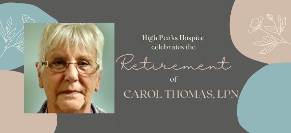 Carol Thomas, LPN Retirement Announcement