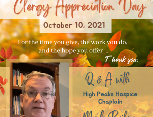 Celebrating Chaplain Appreciation with a Q & A with our Hospice Chaplain Mark Bailey